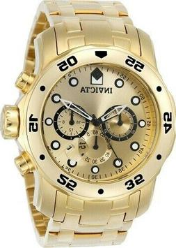 Invicta Men's 'Pro Diver' Quartz Stainless Steel and Gold Pl