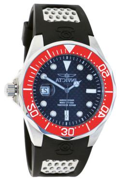 Invicta 12561 Men's Grand Diver Black Dial Red Bezel Rubber