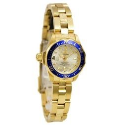 Invicta Women's 14126 Pro Diver Gold Dial 18k Gold Ion-Plate
