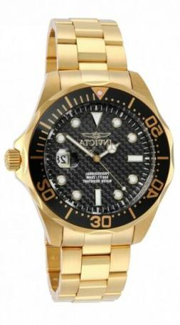 Invicta Men's 14356 Pro Diver Black Carbon Fiber Dial 18k Go