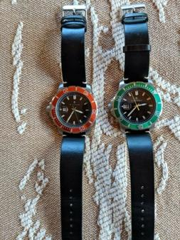 NAUTIS - 2 watches ..Dive Pro 200 GL1909-G Quartz-Black/Gree