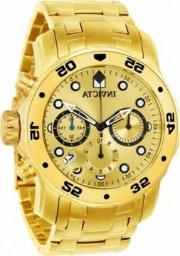 Invicta Men's Watch Pro Diver Scuba Quartz Chronograph Gold
