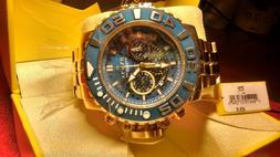 Invicta 22134 Men's Sea Hunter Chrono Yellow Gold Steel Dive