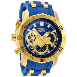 Invicta 22798 Gent's Chrono Blue Silicone & Steel Band Watch