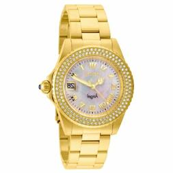 Invicta 22875 Lady's MOP Dial Yellow Gold Steel Crystal Dive
