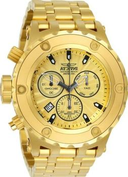 Invicta 23920 Men's Gold Dial Yellow Gold Steel Chrono Dive