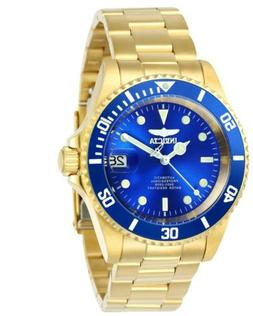 Invicta Men's Watch Pro Diver Automatic Blue Dial Yellow Gol