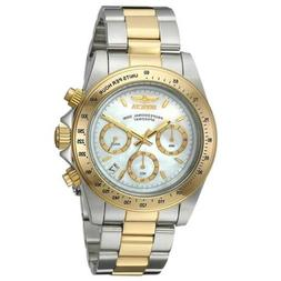 Invicta 24769 Men's Speedway White MOP Dial Two Tone Steel B