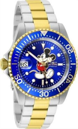 Invicta Men's Watch Disney Blue Dial Automatic Dive Two Tone