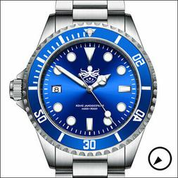 PHOIBOS 300-Meter Dive Watch, Sapphire Crystal and Swiss Qua