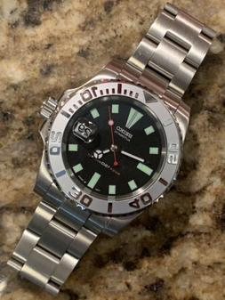 Seiko 7002  40mm Submariner Yachtmaster Dive Watch Mod
