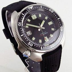 44mm Tandorio sterile black dial Japan NH35A Automatic Steel