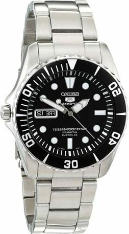 Seiko 5 Automatic Black Dial Stainless Steel Men's Watch SNZ