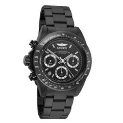 Invicta 7116 Men's Speedway Black Dial Black IP Chrono Dive