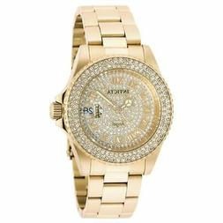 Invicta 90255 Women's Gold Dial Yellow Steel Crystal Dive Wa