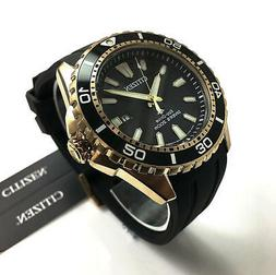 CITIZEN ECO DRIVE PROMASTER ROSE GOLD RUBBER BAND SCUBA DIVE