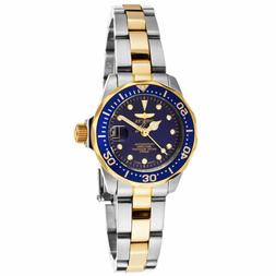 Invicta 17035 Lady's Two Tone Bracelet Blue Dial Quartz Dive