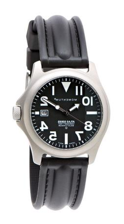 Momentum Atlas Solid Titanium Scuba Dive Watch with SLK Rubb