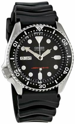 Seiko Automatic Mens Dive Watch SKX007 Black Dial Rubber Str
