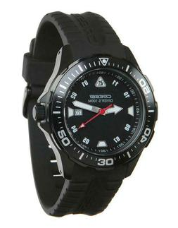 Black Cressi Manta Coloroma Professional Dive Watch with Min