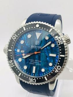 DEEP BLUE M1K 44MM DIVE WATCH-CERAMIC BEZEL -BLUE ABALONE DI
