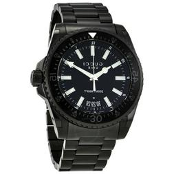 GUCCI Dive Black Dial Stainless Steel Men's Watch YA136205