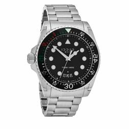 Gucci Men's Dive Black Dial Stainless Steel Swiss Quartz Wat