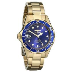 Invicta Men's   Pro Diver 17052 Gold Stainless Steel/Blue Si