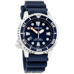 Mens Citizen Eco-Drive Promaster Blue Rubber Divers Watch Wi