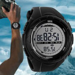 New Skmei Men's Black Led Digital Waterproof Diving Electro
