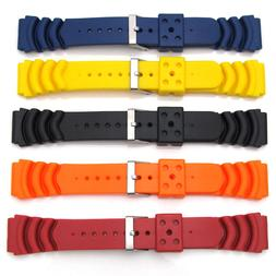 Five Mens Watch Strap Bands For SEIKO MONSTER Rubber Divers