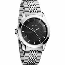 Gucci Men's G-Timeless YA126402 Silver Stainless-Steel Swiss