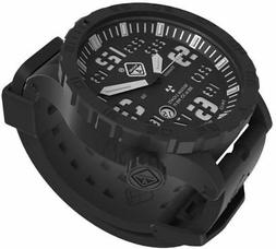 Hazard 4 HeavyWater Diver Titanium Black PVD Dive Watch,Blac