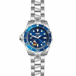 Invicta 24497 Men's Disney Grand Diver Blue Dial Steel Brace