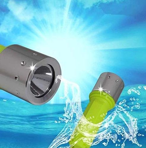 1 10W Dive Flashlights 18650 Battery Charger Waterproof Astonishing High Light Flashlight