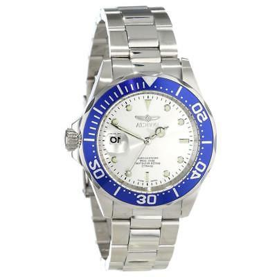 14123 diver silver dial stainless