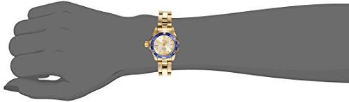 Invicta Women's Diver Dial Gold Ion-Plated Watch