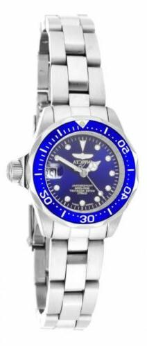 Invicta 17034 Lady's Quartz Steel Bracelet Blue Dial Dive Wa