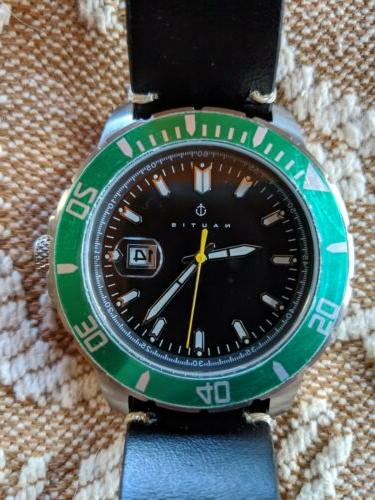 NAUTIS watches Quartz-Black/Green Watch-black/orange