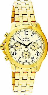 Invicta Multi-Function 18K Gold SS