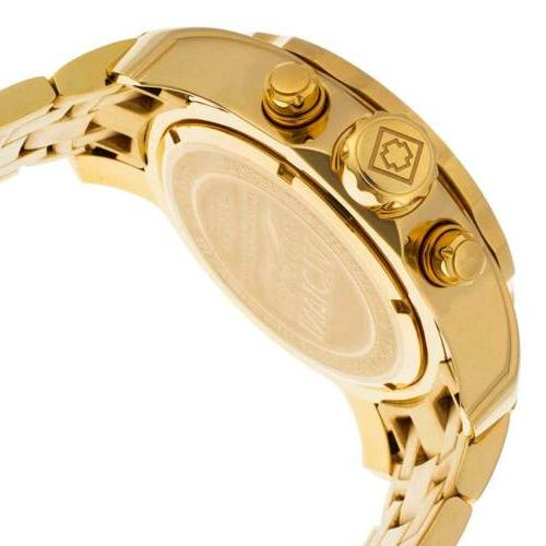 Invicta Gold Dial Yellow Gold Steel