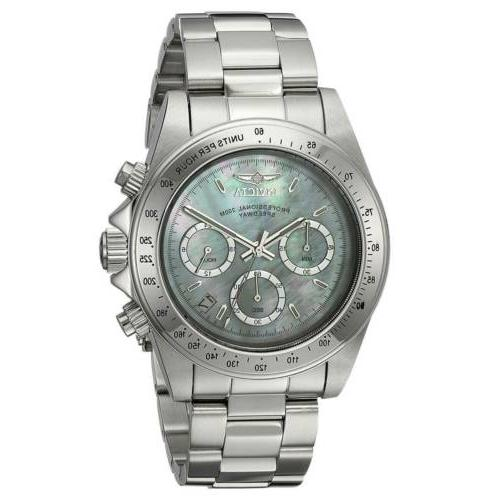24768 mens speedway white mop dial chronograph