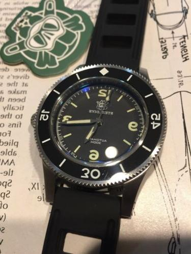 50 fathom 300m dive watch auto stainless
