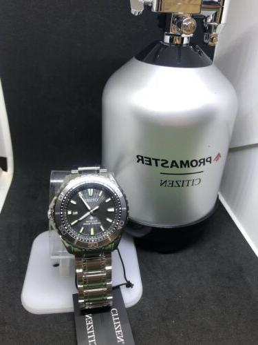 Authentic Citizen Eco-Drive Men's Stainless Steel Dive Watch