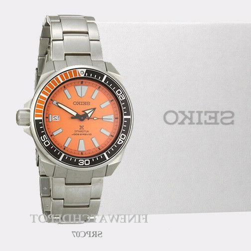 Authentic Seiko Men's Automatic Prospex Samurai Divers Orang