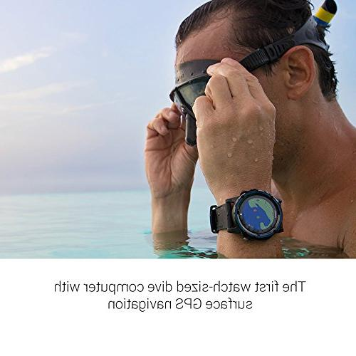 Garmin Mk1, Watch-Sized Dive Computer with Surface GPS, Includes Silver/Black