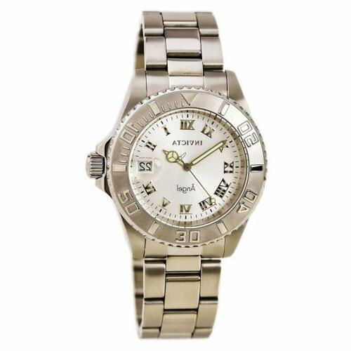 Invicta Women's Watch Angel Quartz Silver Tone Dial Steel Bracelet