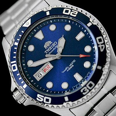 Orient Blue RAY II Automatic, Hand Wind, Dive Watch #AA02005D,