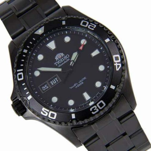 Orient Men's Automatic Black Dive Watch