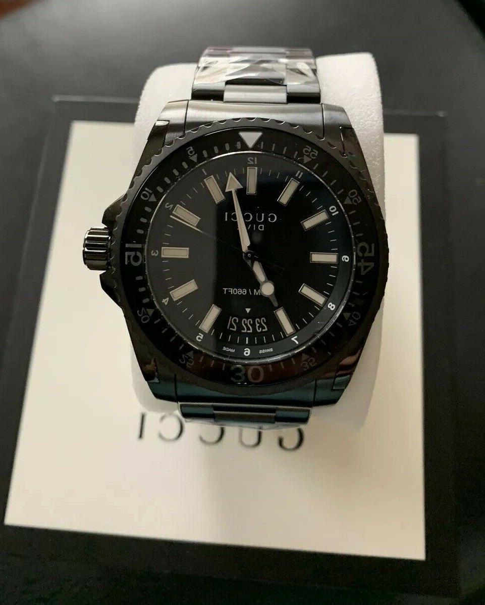 Authentic Black Dial Stainless Men's
